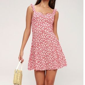 Lulu's Lucy Love Red & White Floral Sundress